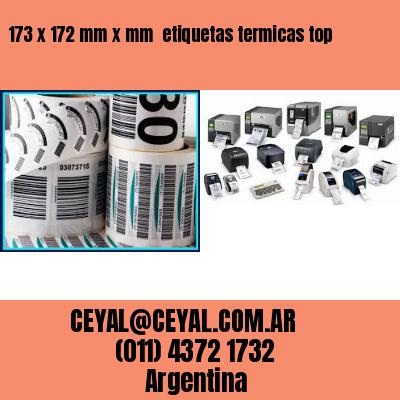 173 x 172 mm x mm  etiquetas termicas top