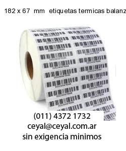 182 x 67  mm  etiquetas termicas balanzas