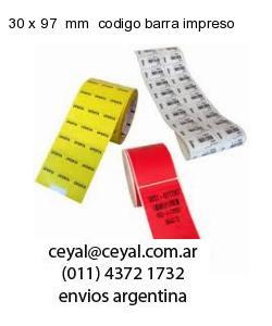 30 x 97  mm  codigo barra impreso