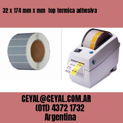 32 x 174 mm x mm  top termica adhesiva