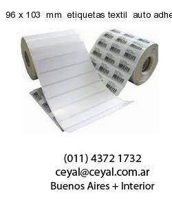 96 x 103  mm  etiquetas textil  auto adhesiva