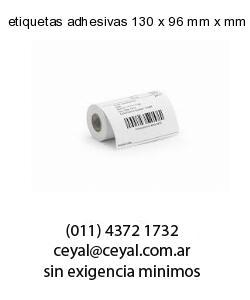 etiquetas adhesivas 130 x 96 mm x mm