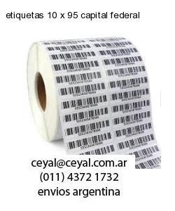 etiquetas 10 x 95 capital federal