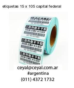 etiquetas 15 x 105 capital federal