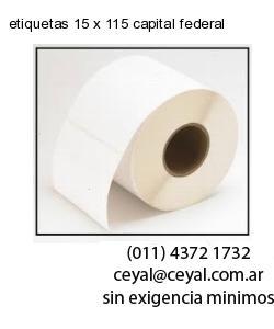 etiquetas 15 x 115 capital federal