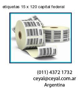 etiquetas 15 x 120 capital federal
