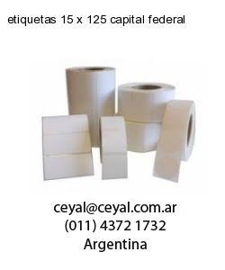 etiquetas 15 x 125 capital federal