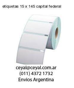 etiquetas 15 x 145 capital federal