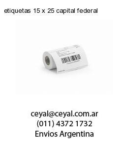 etiquetas 15 x 25 capital federal