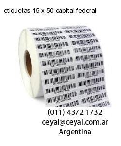 etiquetas 15 x 50 capital federal