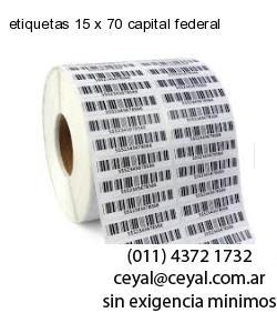 etiquetas 15 x 70 capital federal