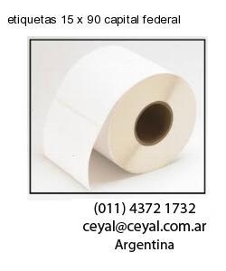 etiquetas 15 x 90 capital federal