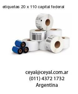 etiquetas 20 x 110 capital federal