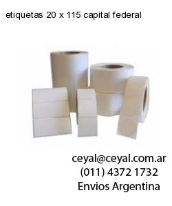 etiquetas 20 x 115 capital federal