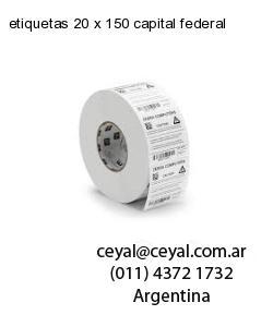 etiquetas 20 x 150 capital federal