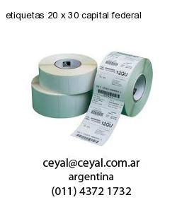 etiquetas 20 x 30 capital federal