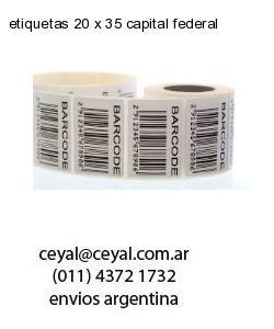 etiquetas 20 x 35 capital federal