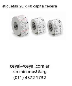 etiquetas 20 x 40 capital federal
