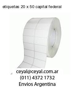 etiquetas 20 x 50 capital federal