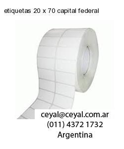 etiquetas 20 x 70 capital federal