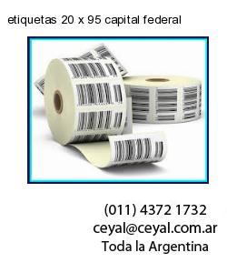 etiquetas 20 x 95 capital federal