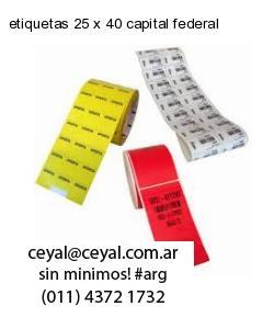 etiquetas 25 x 40 capital federal