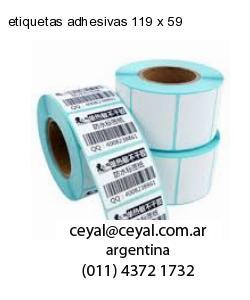 etiquetas adhesivas 119 x 59