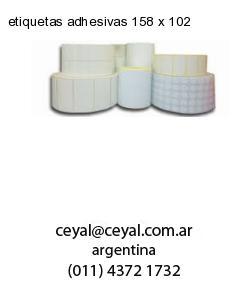 etiquetas adhesivas 158 x 102