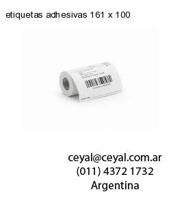 etiquetas adhesivas 161 x 100