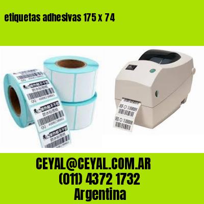 etiquetas adhesivas 175 x 74
