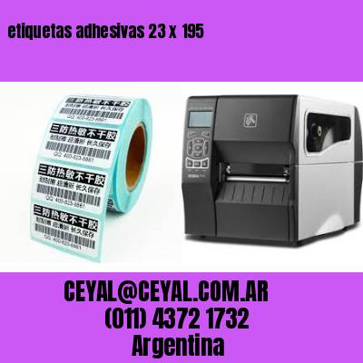 etiquetas adhesivas 23 x 195