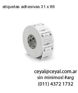 etiquetas adhesivas 31 x 86