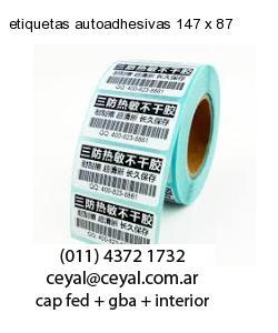 etiquetas autoadhesivas 147 x 87