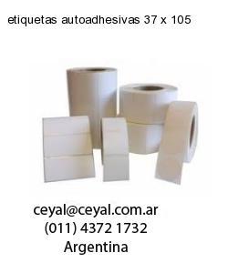 etiquetas autoadhesivas 37 x 105