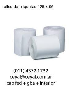 rollos de etiquetas 128 x 96