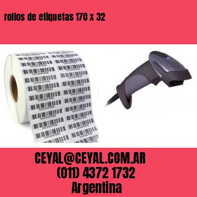 rollos de etiquetas 170 x 32