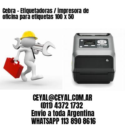 Cebra - Etiquetadoras / impresora de oficina para etiquetas 100 x 50