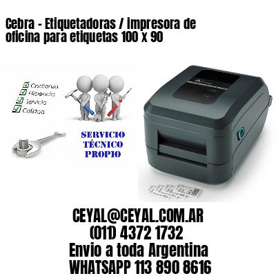 Cebra - Etiquetadoras / impresora de oficina para etiquetas 100 x 90