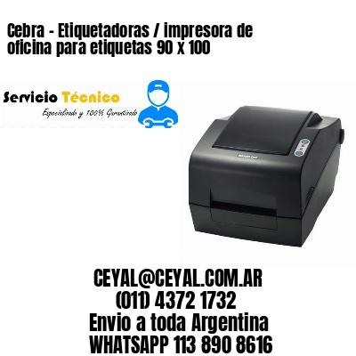 Cebra - Etiquetadoras / impresora de oficina para etiquetas 90 x 100