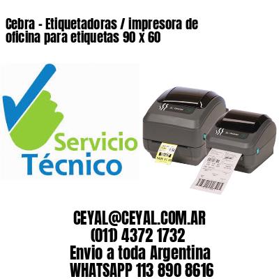 Cebra - Etiquetadoras / impresora de oficina para etiquetas 90 x 60