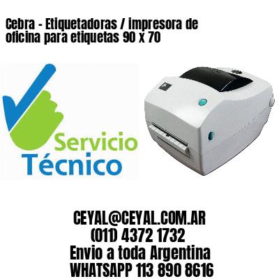 Cebra - Etiquetadoras / impresora de oficina para etiquetas 90 x 70