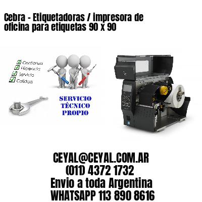 Cebra - Etiquetadoras / impresora de oficina para etiquetas 90 x 90