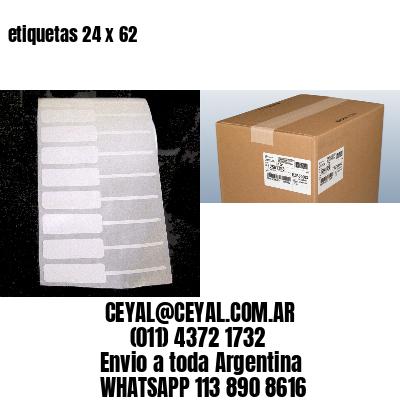 etiquetas 24 x 62
