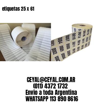 etiquetas 25 x 61
