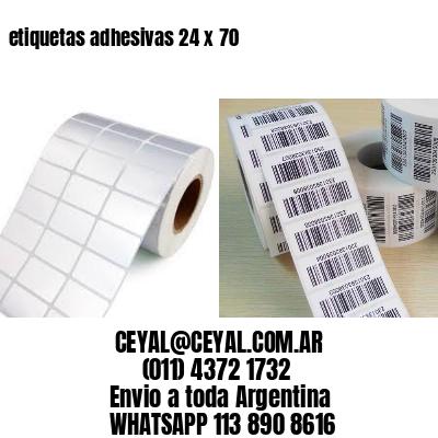 etiquetas adhesivas 24 x 70