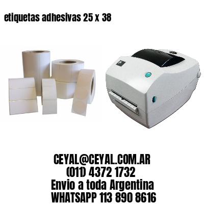 etiquetas adhesivas 25 x 38