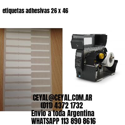 etiquetas adhesivas 26 x 46