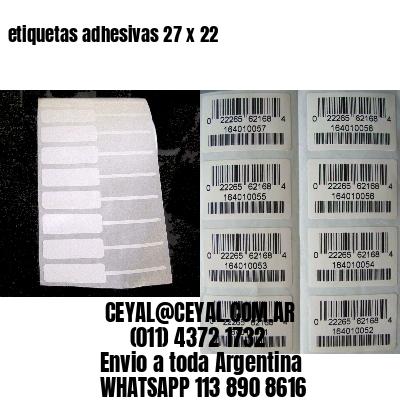 etiquetas adhesivas 27 x 22
