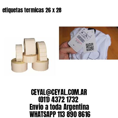 etiquetas termicas 26 x 28