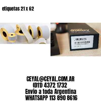 etiquetas 21 x 62